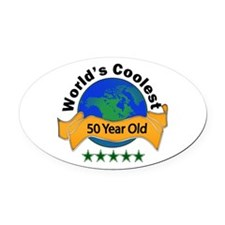 Cute For 50th birthday Oval Car Magnet