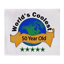 Funny 50 years Throw Blanket