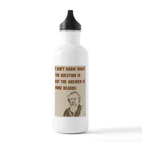 Question/Beard/OldMan Stainless Water Bottle 1.0L