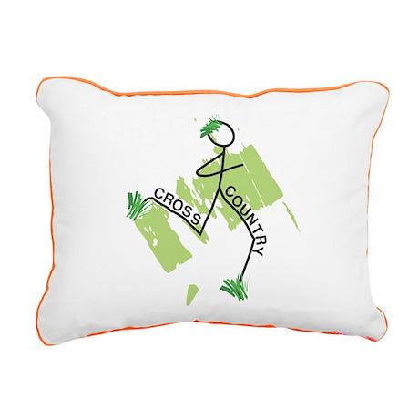 Cute Cross Country Runner Canvas Pillow