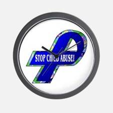Child Abuse Awareness Wall Clock