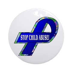 Child Abuse Awareness Ornament (Round)