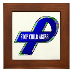 Child Abuse Awareness Framed Tile