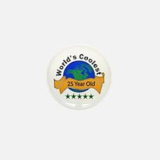 Unique 25th birthday Mini Button (10 pack)