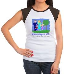 Abuse Awareness Women's Cap Sleeve T-Shirt