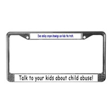 Abuse Awareness License Plate Frame