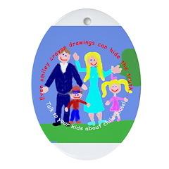 Abuse Awareness Oval Ornament
