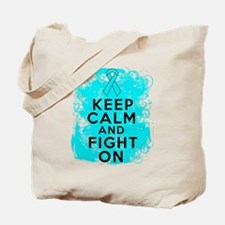 Addiction Recovery Keep Calm Fight On Tote Bag