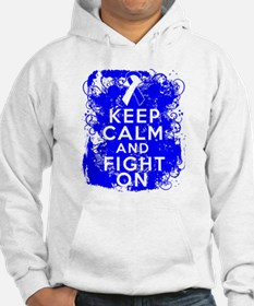 ALS Keep Calm Fight On Hoodie