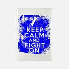 ALS Keep Calm Fight On Rectangle Magnet