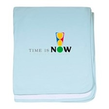 Time Is Now Logo baby blanket