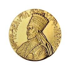 "Haile Selassie I King of Kings 3.5"" Button"