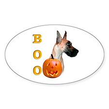 Halloween Great Dane Boo #2 Oval Decal