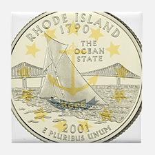 Rhode Island Quarter 2001 Tile Coaster
