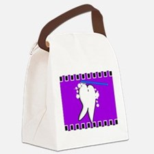 tooth blanket 5 purple.PNG Canvas Lunch Bag