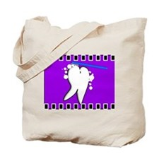 tooth blanket 5 purple.PNG Tote Bag