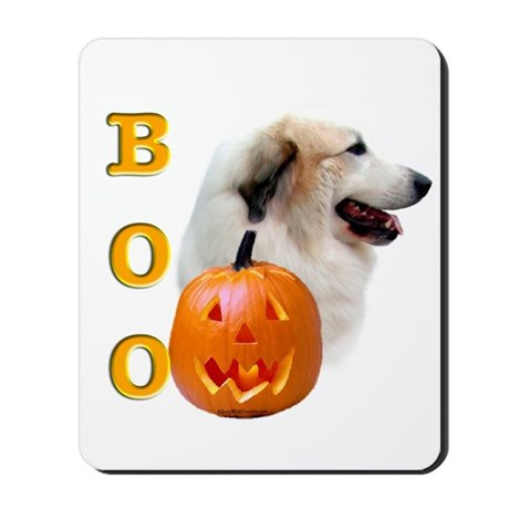 Halloween Great Pyrenees Boo Mousepad