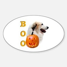 Halloween Great Pyrenees Boo Oval Decal
