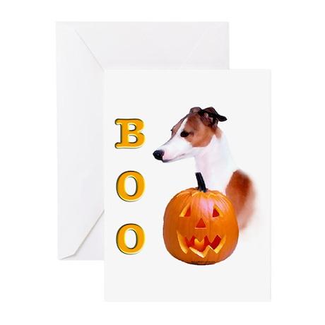 Halloween Italian Greyhound Boo Greeting Cards (Pa