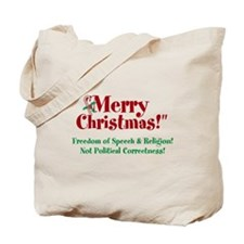 Merry Christmas Freedom Tote Bag