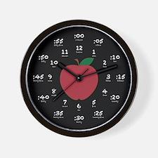 Chalkboard Apple Hour Minute Wall Clock
