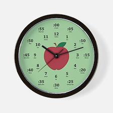 Teacher's Apple Wall Clock