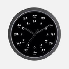 Black Chalkboard Wall Clock