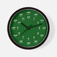 Green Chalkboard Hour Minute Wall Clock