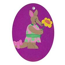 Aardvark Frield Ornament (Oval)