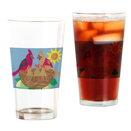 Cardinal Family Drinking Glass