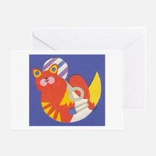 Blue Baby Kitty Greeting Card