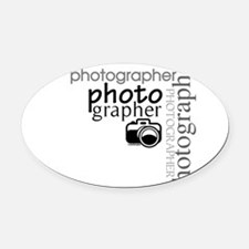 photographer1.png Oval Car Magnet
