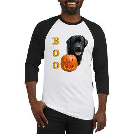Halloween Black Lab Boo Baseball Jersey
