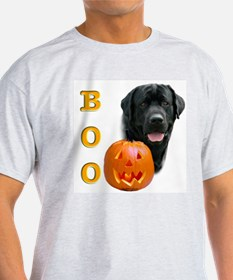Halloween Black Lab Boo Ash Grey T-Shirt