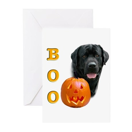 Halloween Black Lab Boo Greeting Cards (Package of