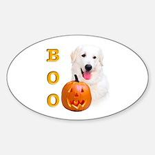 Halloween Kuvasz Boo Oval Decal