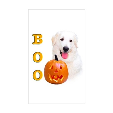 Halloween Kuvasz Boo Rectangle Sticker