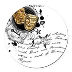actor2.png Round Car Magnet