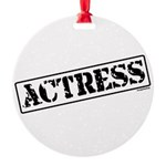 actress.png Round Ornament