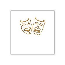 "masks1.png Square Sticker 3"" x 3"""