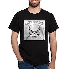 Knit or Die Black T-Shirt