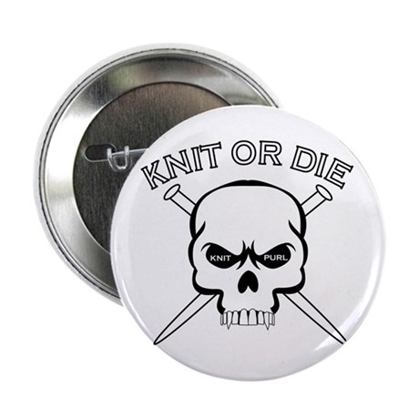 """Knit or Die 2.25"""" Button (10 pack)"""
