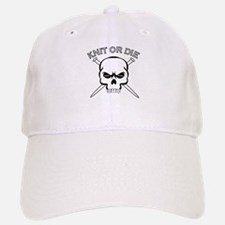 Knit or Die Baseball Baseball Cap