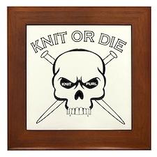 Knit or Die Framed Tile