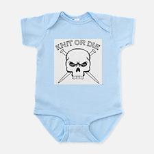 Knit or Die Infant Creeper