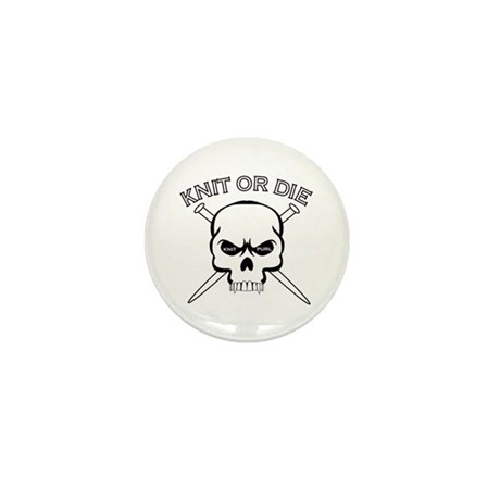 Knit or Die Mini Button