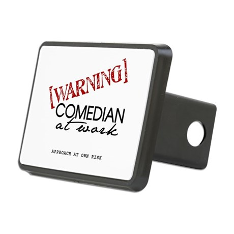 Warning: Comedian Rectangular Hitch Cover