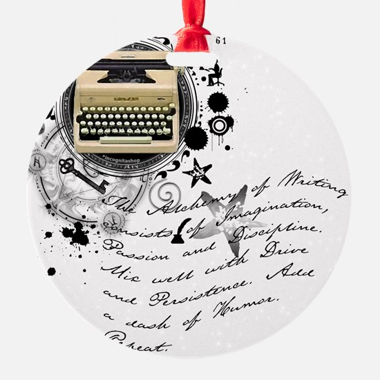 writer2.png Round Ornament
