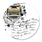 writer2.png Round Car Magnet