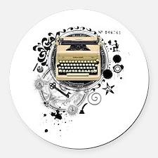 writer3.png Round Car Magnet